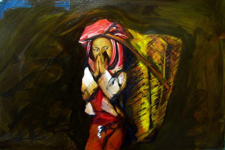Cambodian girl - Chad Maxwell-fine artist