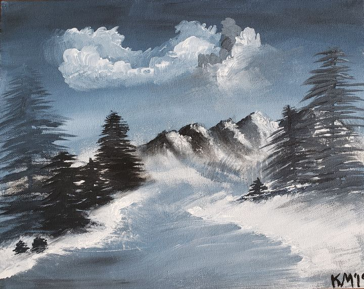 A Cold Winter Evening on the Lake - Kimberly McFarland