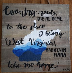 West Virginia on Wood