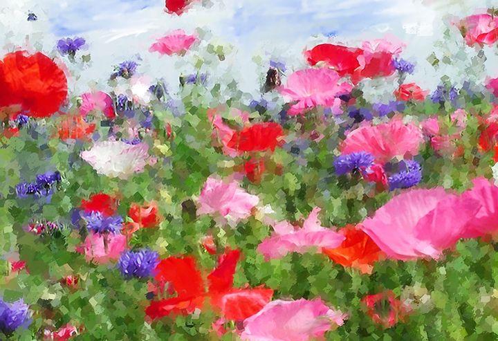 Red & Pink Flowers - Daniel