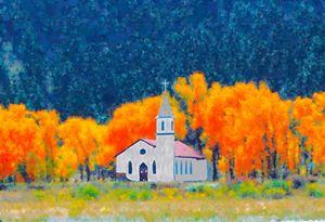 Mountain Church in Fall