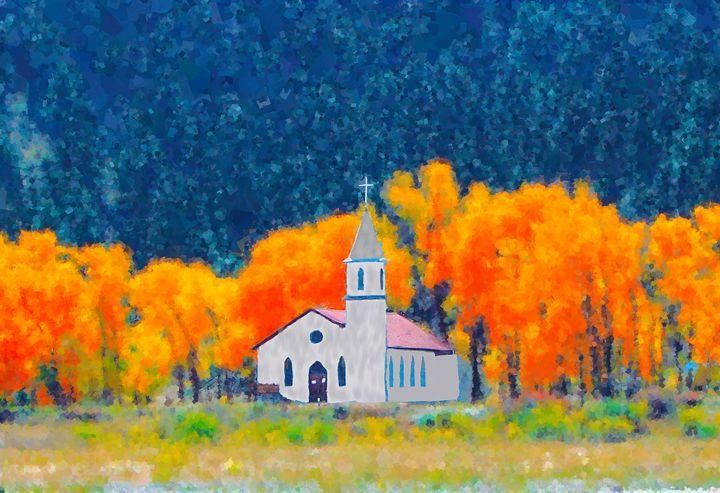 Mountain Church in Fall - Daniel