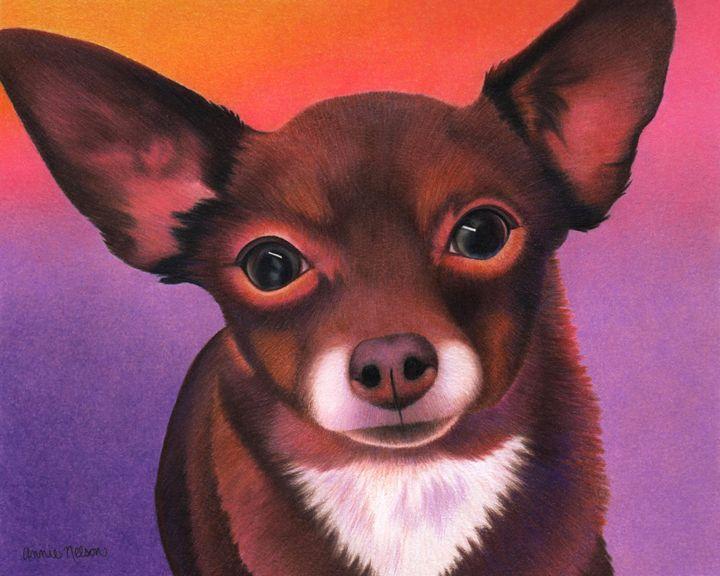 Chihuahua - Johnny - Annie's Colored Pencil Art