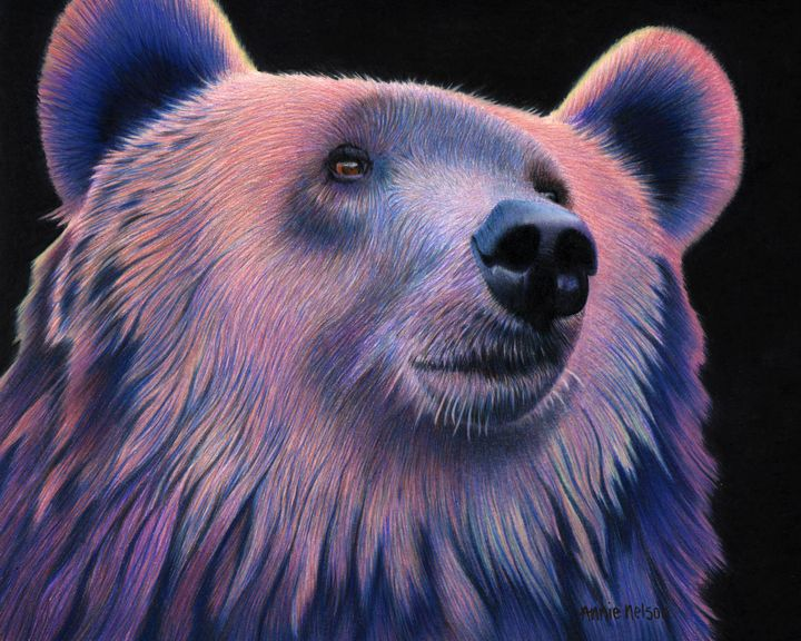 Grizzly Bear - Annie's Colored Pencil Art