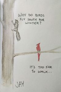 Squirrel and Cardinal joke