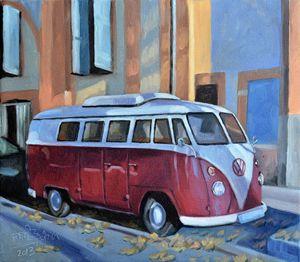 A Old Volkswagen Van