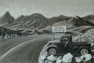 Route 66 the Great American Highway - Jaspreet Singh Art