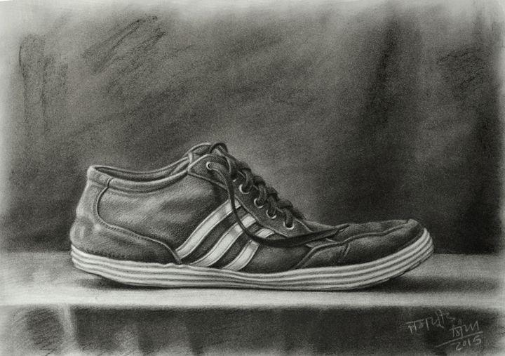 Adidas Shoe Still life - Jaspreet Singh Art