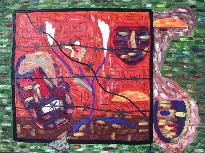 Original  Abstract Art - Cobweb art