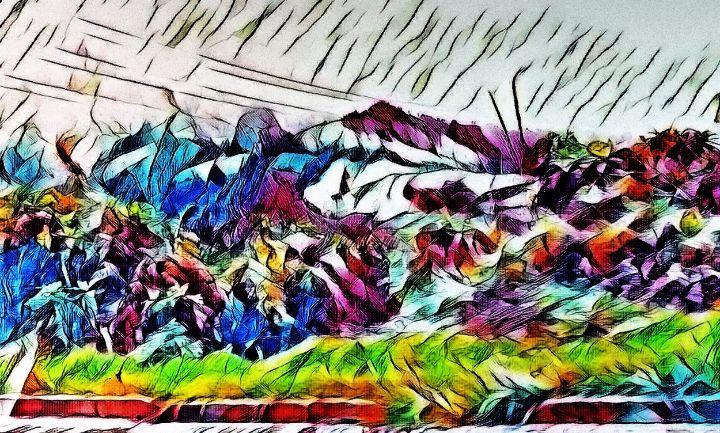 Beautiful mountain pain - Fian Studio
