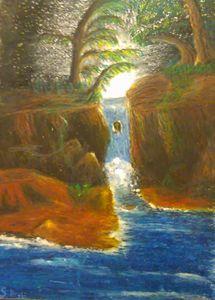 Glade waterfall.