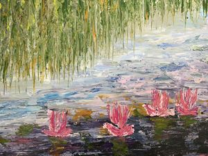 Abstract waterlilies