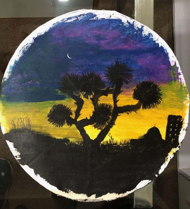 The village side sunset - jassiiee's art
