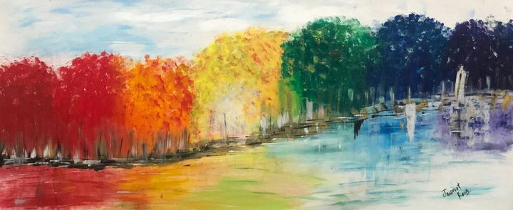 The colorful trees - jassiiee's art