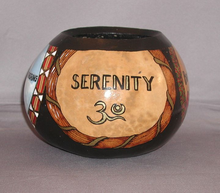 Serenity for Type A Personalities - LaDeDa Gourds - Karen L Caldwell