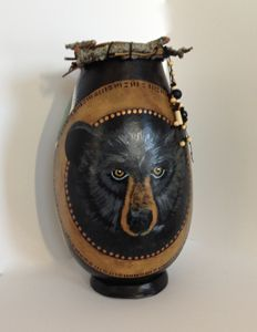 Bear Country - LaDeDa Gourds - Karen L Caldwell