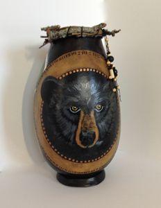 Bear Country - LaDeDa Gourds - Karen L Caldwell