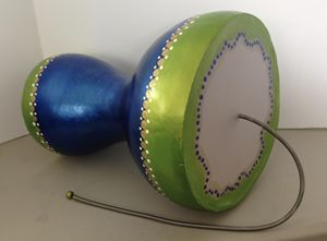 Thunder Drum - LaDeDa Gourds - Karen L Caldwell