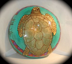 Ocean Drum Turtle - SOLD