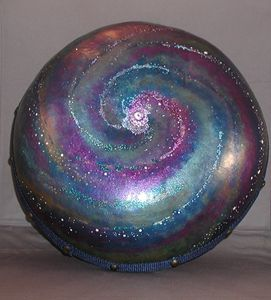 Ocean Drum - Galaxy - LaDeDa Gourds - Karen L Caldwell