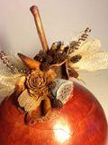 Autumn Bounty Lidded Gourd Vessel
