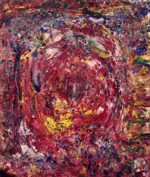 Crimson Tempest, 50x60 cm - Regis Pineault Abstract Art