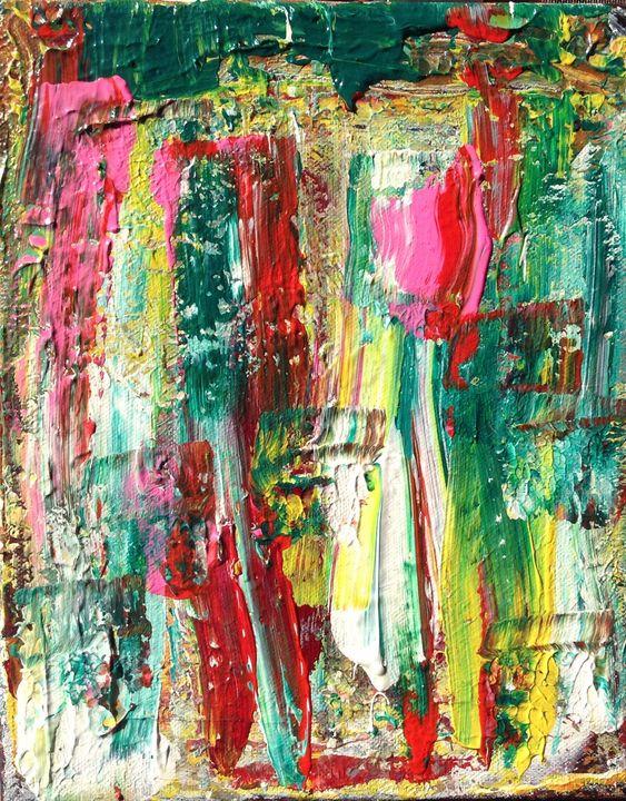Cyan Dreams, 24x30 cm - Regis Pineault Abstract Art