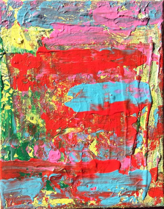 There is Beauty in Chaos, 24x30 cm - Regis Pineault Abstract Art