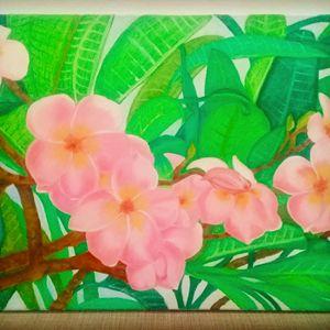 Pink Plumerias of My Hawaii Memories
