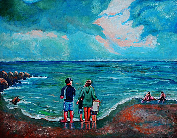 A Day on New Jersey Beach - Artist Anthony Flake