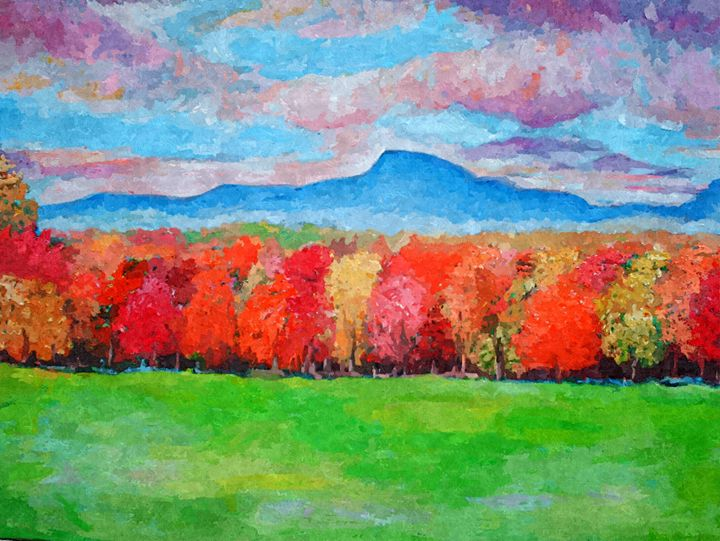 Autumn in New Jersy Mountain - Artist Anthony Flake