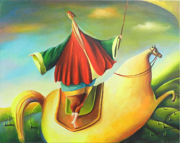 Yellow Horse - JolantaArt