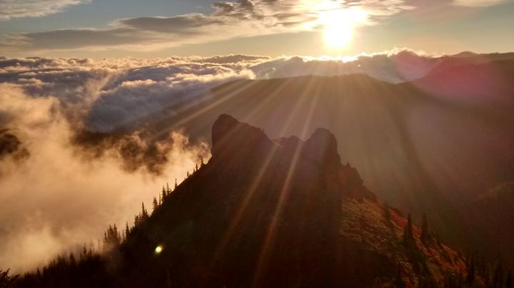 Lower Peaks of Noble Knob at Sunup - Wend Images Gallery