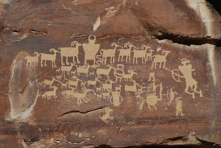The Great Hunt Petroglyph - Wend Images Gallery