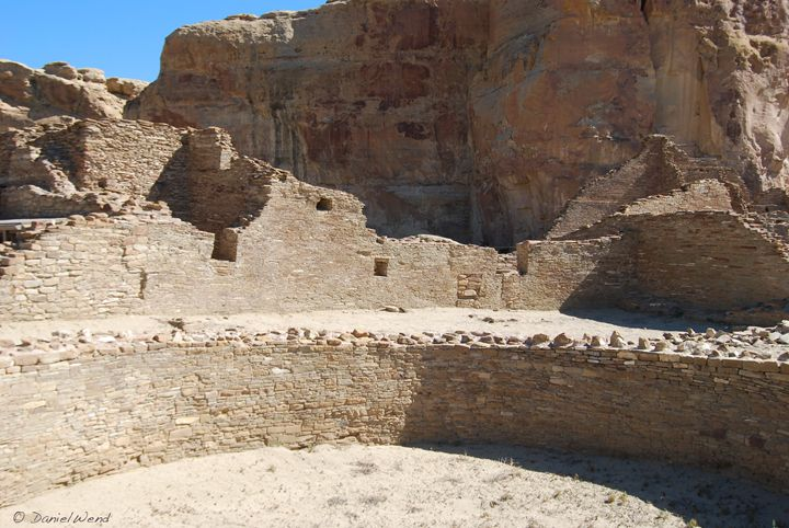 Kiva Wall at Pueblo Bonito - Wend Images Gallery