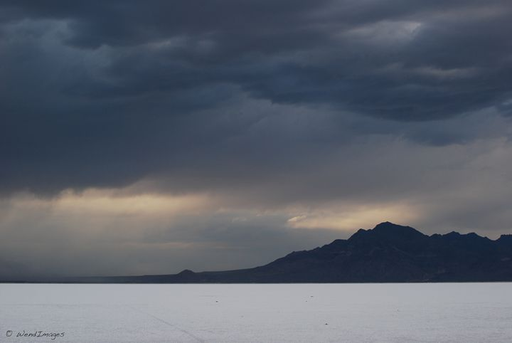 Storm Clouds Over the Salt Flats - Wend Images Gallery