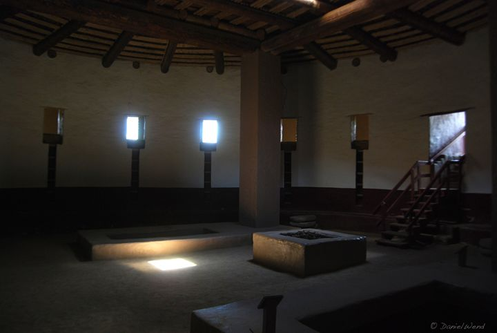 Interior of a Great Kiva - Wend Images Gallery