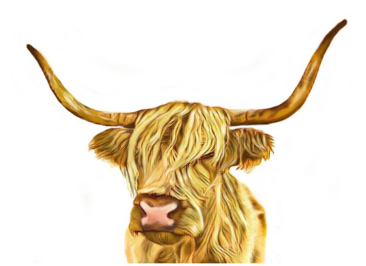 Long Haired Cow - Tomahto Art Studio