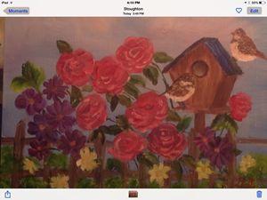 Chickadees iin A Rose Garden