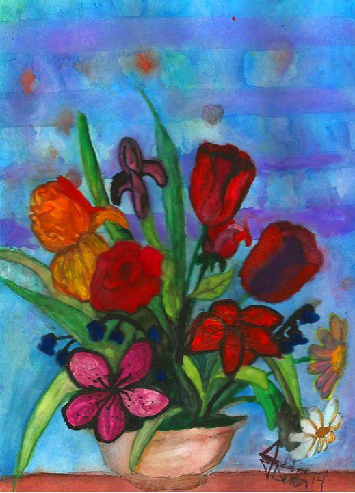 Watercolor Flowers - Jessica Denton