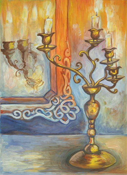 Candles and Mirror - Olha Gordiiuk
