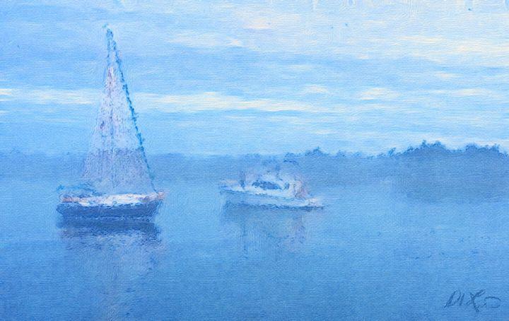 Misty Morning - Blue Door Studio
