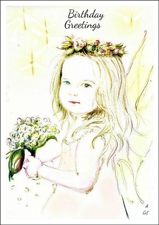 Innocence Birthday card - Alexa & Alan ~Secret World productions~