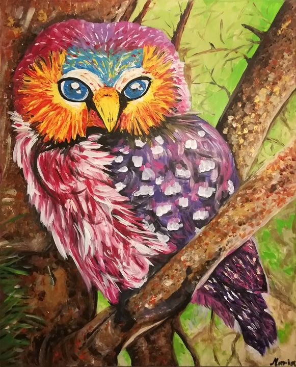 Exotic Owl - MARIA MAGIC ART