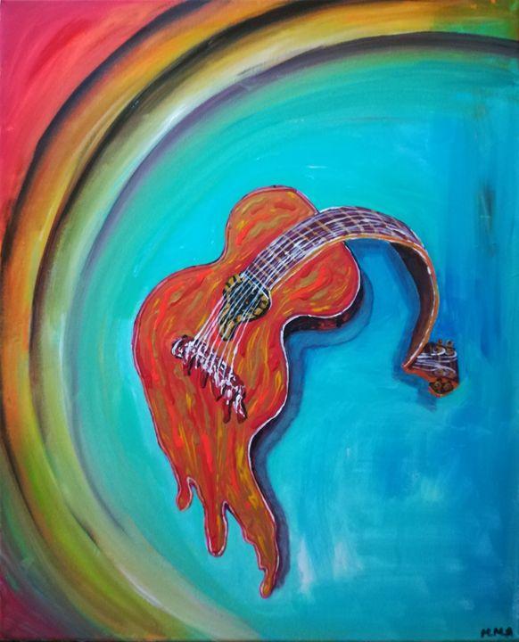 Melting guitar - MARIA MAGIC ART