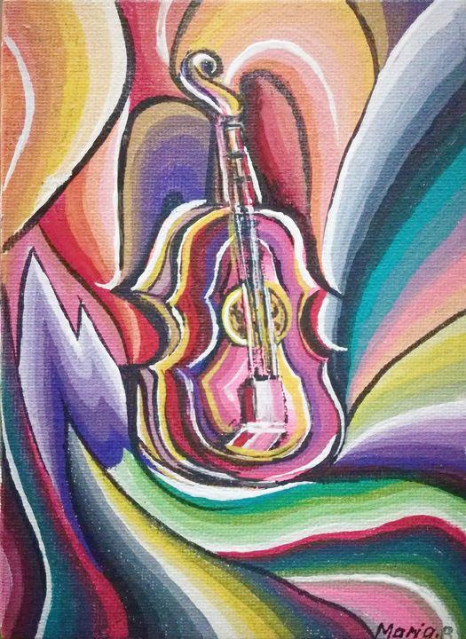 RAINBOW VIOLIN MUSIC - MARIA MAGIC ART