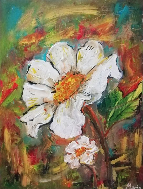White flower - MARIA MAGIC ART