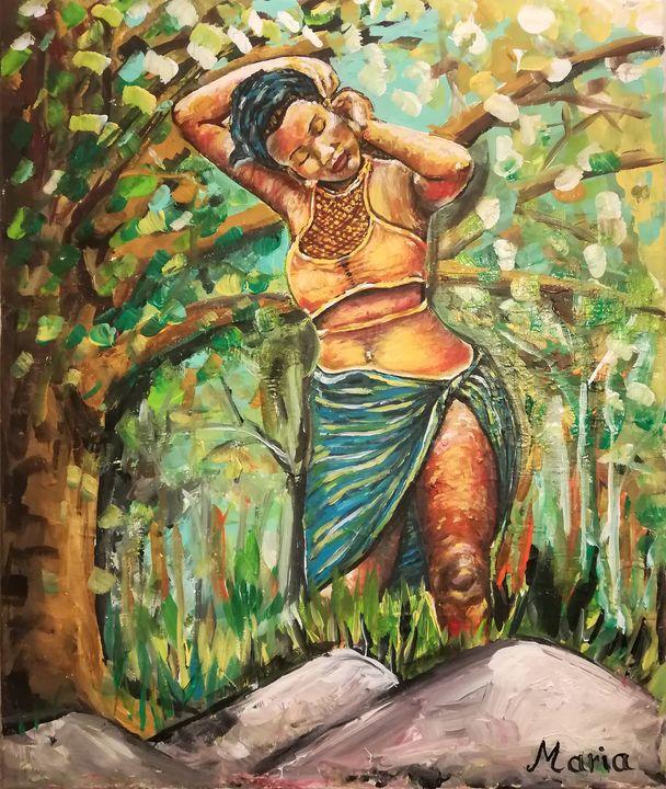 African woman in nature - MARIA MAGIC ART