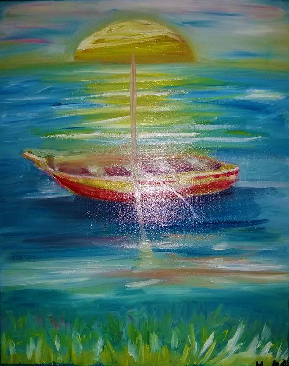 Boat in the sea - MARIA MAGIC ART