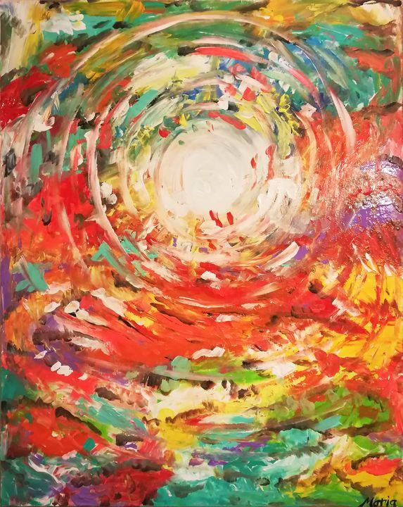 Colorful sunrise - MARIA MAGIC ART